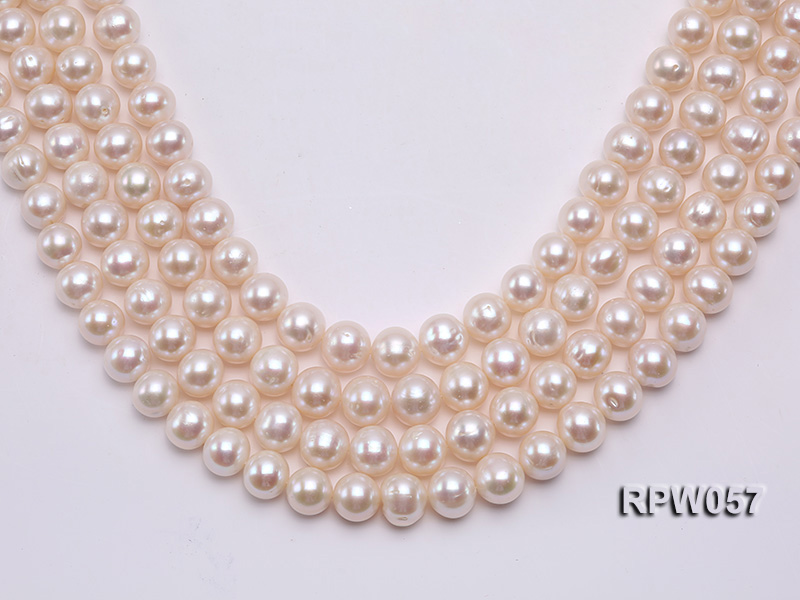 Wholesale 11-12mm White Freshwater Pearl Loose String big Image 1