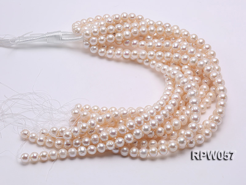 Wholesale 11-12mm White Freshwater Pearl Loose String big Image 3
