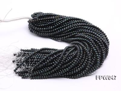 Wholesale 5.5x6.5mm Black Flat Cultured Freshwater Pearl String FPW047 Image 4