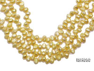 Wholesale 6x8mm  Side-drilled Cultured Freshwater Pearl String ISH050 Image 1