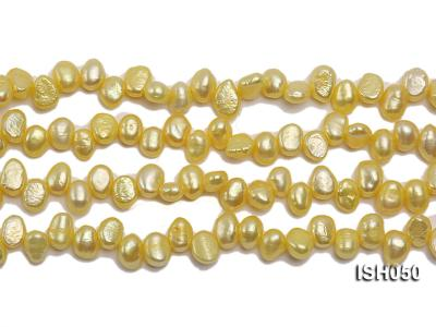 Wholesale 6x8mm  Side-drilled Cultured Freshwater Pearl String ISH050 Image 2
