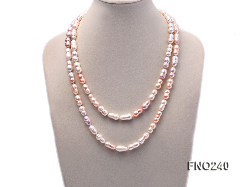 10x13-10x17mm multicolor irregular freshwater pearl necklace big Image 1