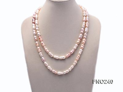 10x13-10x17mm multicolor irregular freshwater pearl necklace FNO240 Image 1