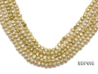 Wholesale Charming 8-9mm Flat Freshwater Pearl String SBP098