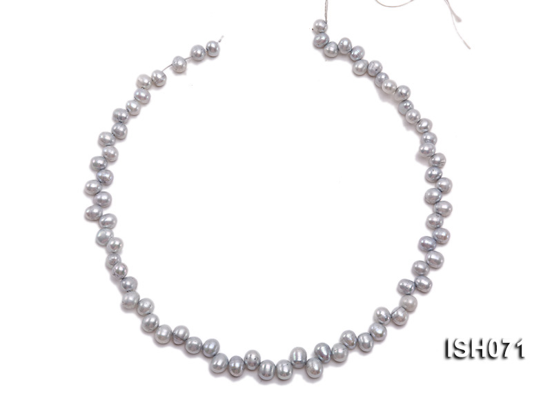 Wholesale 6-7mm Silver Side-drilled Cultured Freshwater Pearl String big Image 3