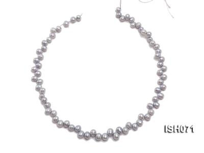Wholesale 6-7mm Silver Side-drilled Cultured Freshwater Pearl String ISH071 Image 3