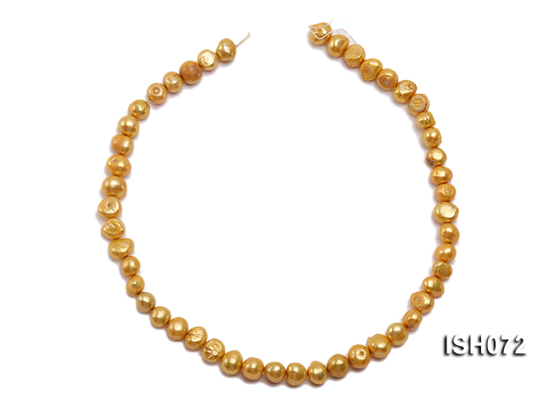 Wholesale 7x9mm Yellow Side-drilled Cultured Freshwater Pearl String big Image 3
