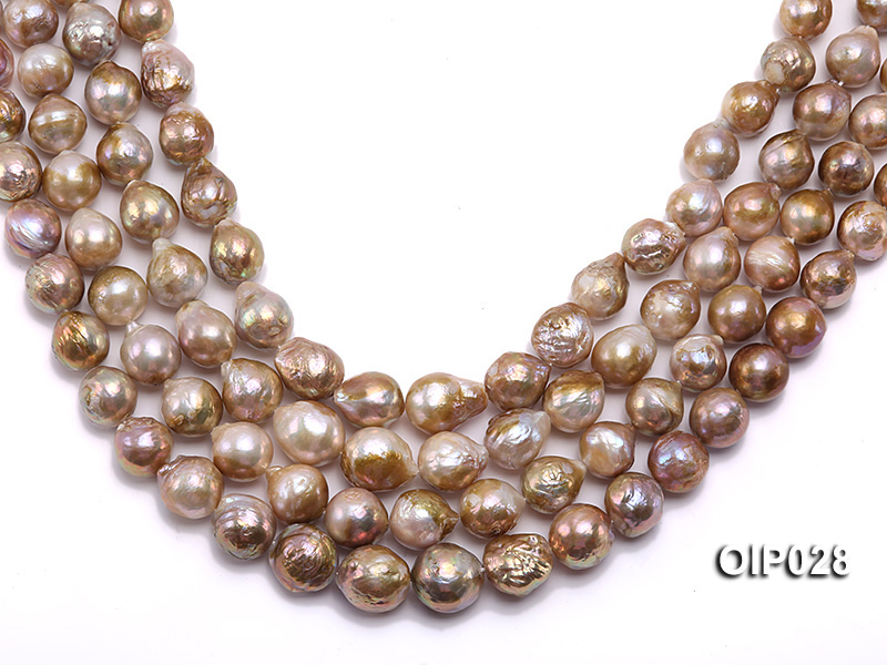 Wholesale & Retail AA-grade 11-13mm Multi-color Irregular Pearl String big Image 1