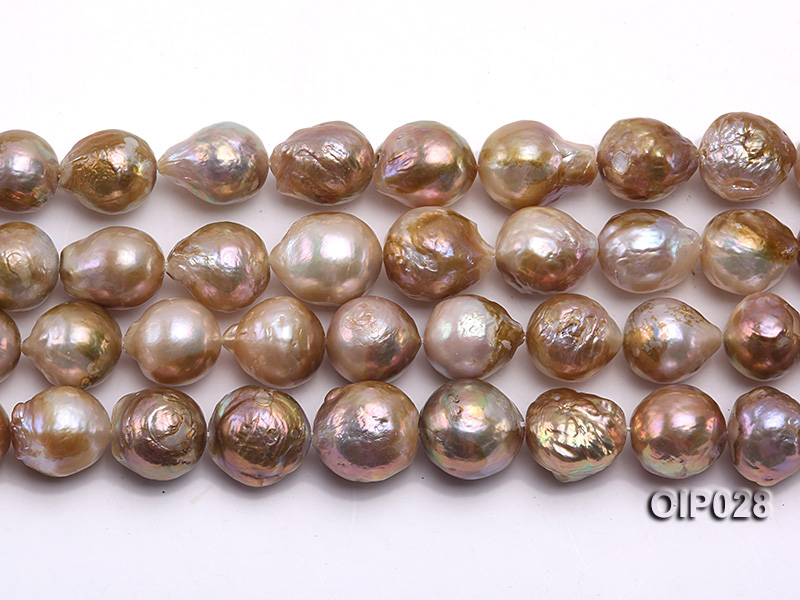 Wholesale & Retail AA-grade 11-13mm Multi-color Irregular Pearl String big Image 2