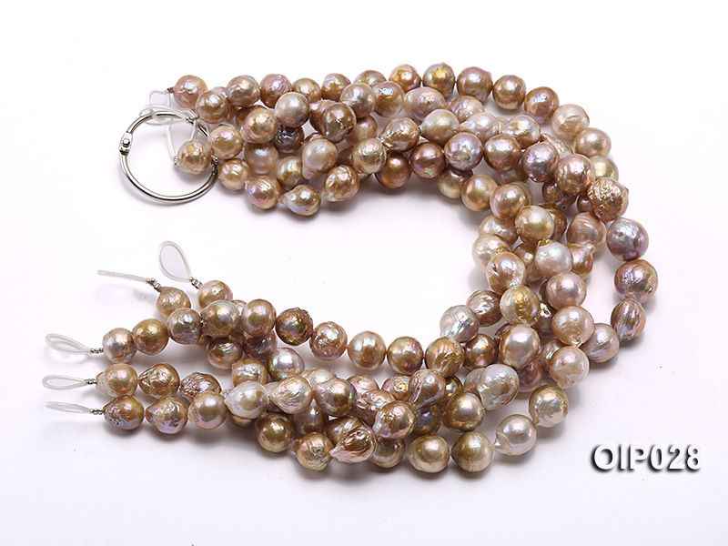 Wholesale & Retail AA-grade 11-13mm Multi-color Irregular Pearl String big Image 3