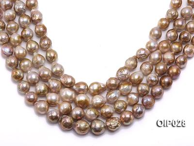 Wholesale & Retail AA-grade 11-13mm Multi-color Irregular Pearl String OIP028 Image 1