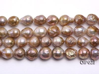 Wholesale & Retail AA-grade 11-13mm Multi-color Irregular Pearl String OIP028 Image 2