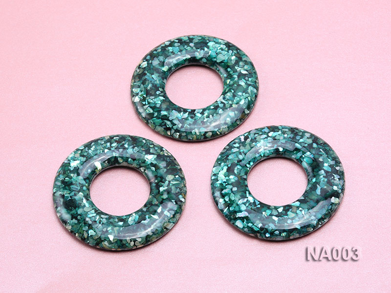 70mm Round Synthetic Resin Pieces Jewelry Accessories  big Image 3