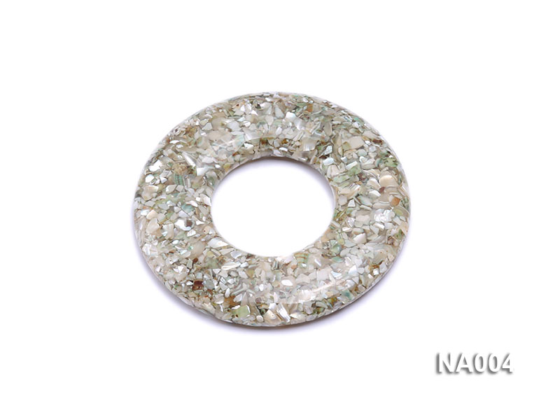 70mm Round Synthetic Resin Pieces Jewelry Accessories  big Image 1