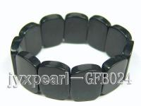 18x25mm black onxy stretchy bracelet GFB024