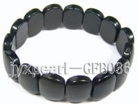 13x18mm black onxy stone stretchy bracelet GFB036