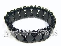 6mm black onxy stretchy bracelet GFB048