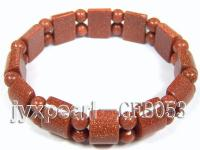 6mm gold sand stone stretchy  bracelet GFB053