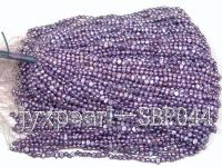 wholesale 4-5mm Light Violet flat freshwater pearl strings SBP044