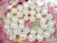 12-14mm Big white freshwater pearl necklace RPN073
