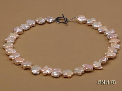 Classic 15mm Pink Flower-shaped Freshwater Pearl Necklace FNI178 Image 1