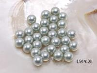 Wholesale 12mm Silver Round Seashell Pearl Bead LSP009