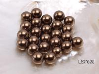 Wholesale 14mm Round Black Seashell Pearl Bead LSP008