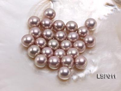 Wholesale 12.5mm Lavender Round Seashell Pearl String LSP011 Image 1