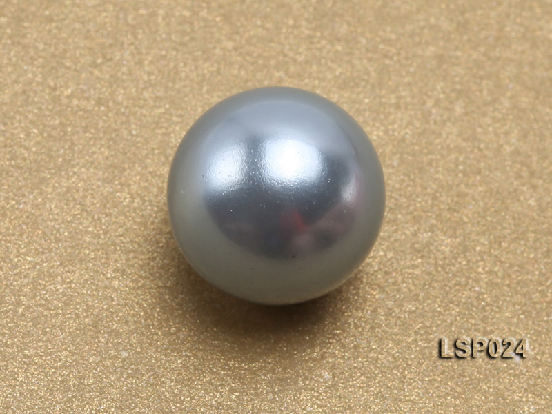 Wholesale 10-12.5mm Light Blue Round Seashell Pearl Bead big Image 3