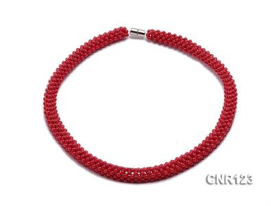 2-3mm Round Red Coral Necklace  CNR123 Image 1