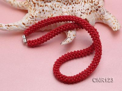 2-3mm Round Red Coral Necklace  CNR123 Image 4