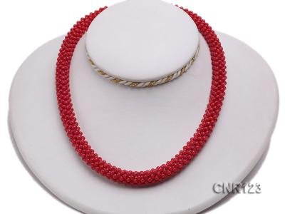 2-3mm Round Red Coral Necklace  CNR123 Image 5