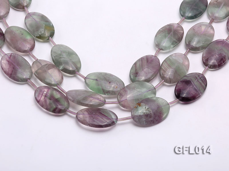 Wholesale 20x30mm Colorful Elliptical Fluorite String big Image 1