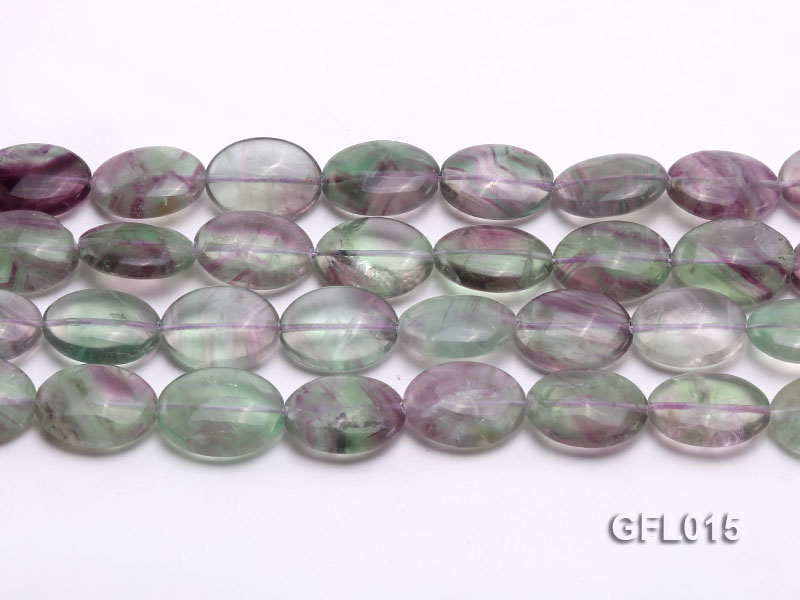 Wholesale 16x20mm Colorful Elliptical Fluorite String big Image 2