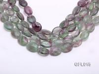 Wholesale 16x20mm Colorful Elliptical Fluorite String GFL015