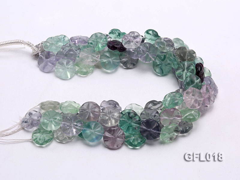 Wholesale 20mm Colorful Flower-shaped Fluorite String big Image 3