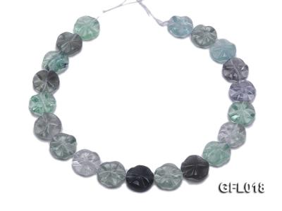 Wholesale 20mm Colorful Flower-shaped Fluorite String GFL018 Image 4