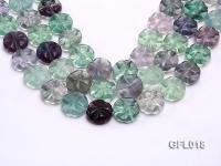 Wholesale 20mm Colorful Flower-shaped Fluorite String GFL018