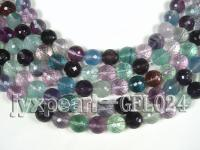 wholesale 12mm round faceted fluorite semi-finished products GFL024