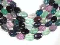 wholesale 18x25mm oval faceted fluorite semi-finished product GFL026