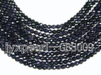 wholesale 7.5mm faceted round Blue Sand Stone strings GBS009