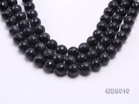wholesale 16mm faceted round Blue Sandstone strings GBS010