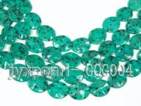 wholesale 25x30mm dark green oval stone strings GOG004