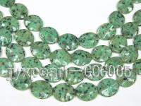 wholesale 25x30mm green oval stone strings GOG005