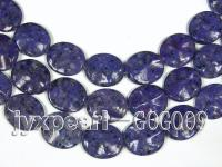 Wholesale 30x35mm Ink Blue Oval Stone String GOG009