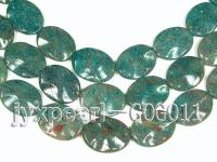 wholesale 30x40mm green oval stone strings GOG011