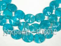 Wholesale 30x35mm Peacock Blue Oval Stone String GOG012