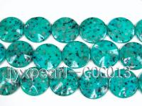 wholesale 35mm green disc shaped stone strings GOG013