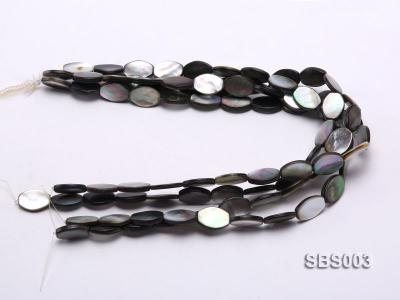 Wholesale 13x19mm Black Oval Seashell String SBS003 Image 3