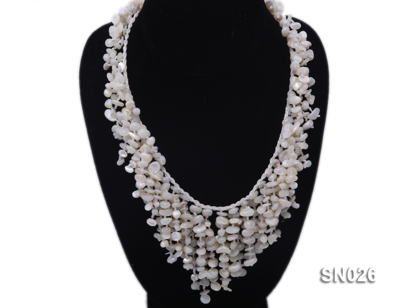 5-8mm White Shell Necklace big Image 1